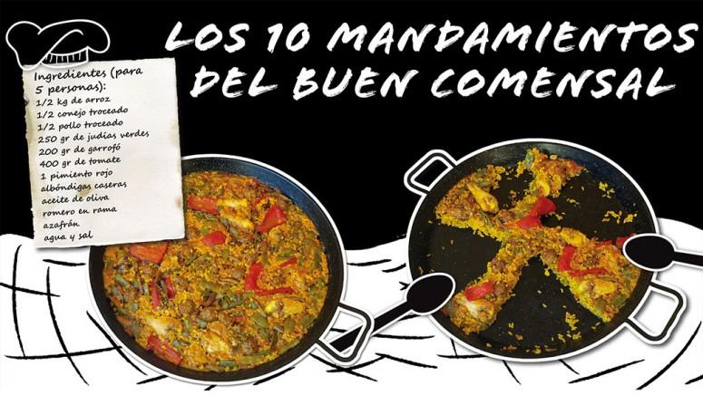 10 Mandamientos Paella Valenciana