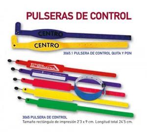 Pulseras de control