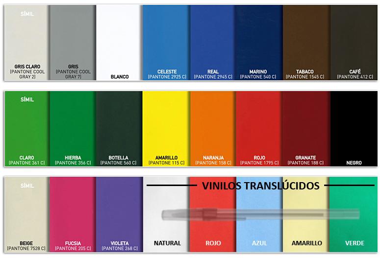 Materiales nurimar - Vinilos de color ...